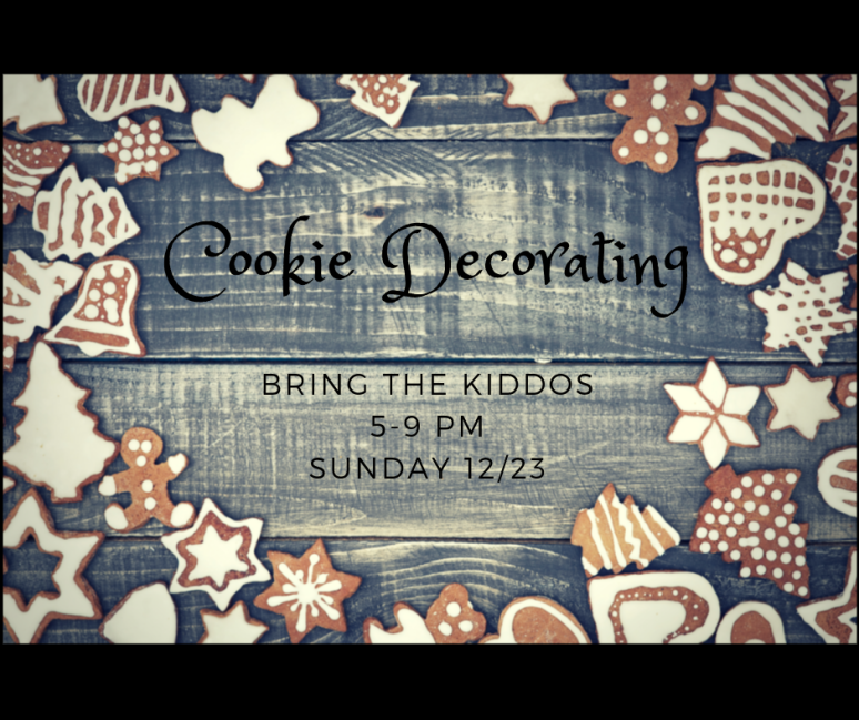 Christmas Eve Cookie Decorating
